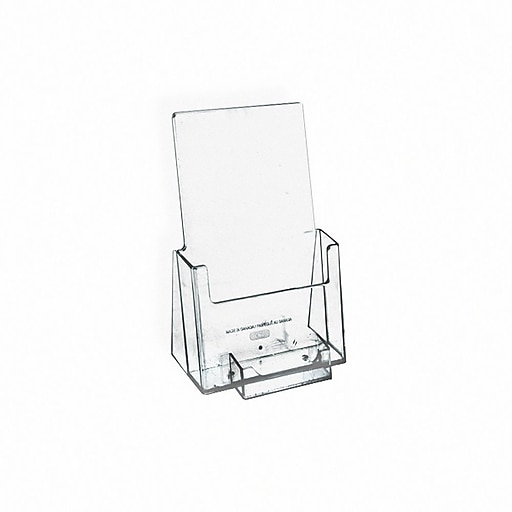 Azar Plastic Trifold Size Single Brochure Literature Holder With