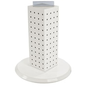 "Azar Displays 12""(H) x 4""(W) x 4""(D) 4-Sided Revolving Pegboard Counter Display, White Solid"