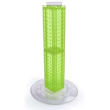Azar Displays – Présentoir rotatif de comptoir à panneaux perforés sur 4 côtés, 24 x 4 x 4 (po), vert translucide (700222-GRE)