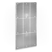 """Azar® 48""""(H) x 24""""(W) Pegboard Wall Panel, Clear Frosted"""