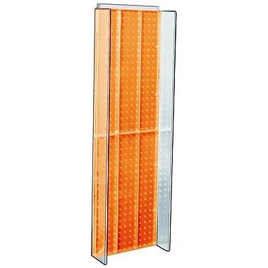 Azar Displays – Panneau d'accrochage à ailettes latérales, 44 x 14 po, orange (700350-ORG)