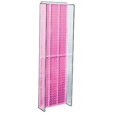 Azar Displays – Panneau d'accrochage à ailettes latérales, 44 x 14 po, rose (700350-PNK)
