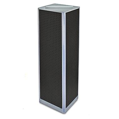 Azar Displays – Présentoir de plancher pivotant à panneaux perforés sur 4 côtés, 60 x 16 po, noir (700405-BLK)