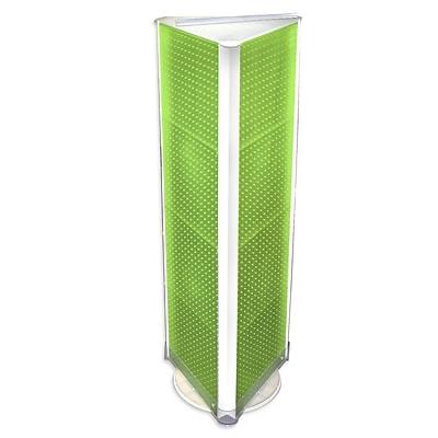 """Azar® 60""""(H) x 16""""(W) 3-Sided Pegboard Floor Display, Green"""