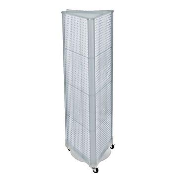 Azar Displays – Présentoir de sol à panneaux perforés sur 3 côtés et à roulettes, 60 x 16 po, transparent (700451-CLR)