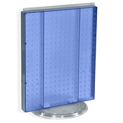 "Azar Displays 20""(H) x 16""(W) Pegboard Counter Unit, Translucent Blue"