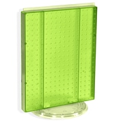 "Azar Displays 20""(H) x 16""(W) Pegboard Counter Unit, Green Translucent"