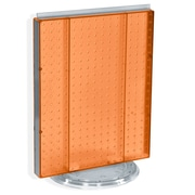 "Azar® 20""(H) x 16""(W) Pegboard Counter Unit, Orange Translucent"