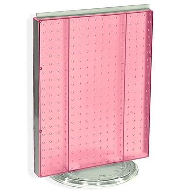 "Azar® 20""(H) x 16""(W) Pegboard Counter Unit, Pink Translucent"
