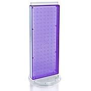 """Azar® 20""""(H) x 8""""(W) 2-Sided Non-Revolving Pegboard Counter Unit, Purple Translucent"""