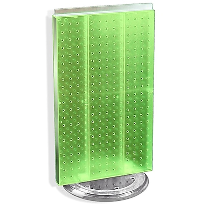 "Azar® 22""(H) x 13 1/2""(W) 2-Sided Pegboard Counter Unit, Green Translucent"