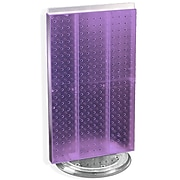 "Azar® 22""(H) x 13 1/2""(W) 2-Sided Pegboard Counter Unit, Purple Translucent"