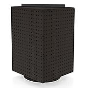 "Azar® 20""(H) x 14""(W) x 14""(D) 4-Sided Revolving Pegboard Display, Black Solid"