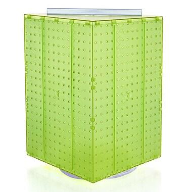 Azar Displays – Présentoir rotatif à panneaux perforés sur 14 côtés, 20 x 14 x 4 (po), vert translucide (701414-GRE)