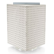 "Azar Displays 20""(H) x 14""(W) x 14""(D) 4-Sided Revolving Pegboard Display, White Solid"