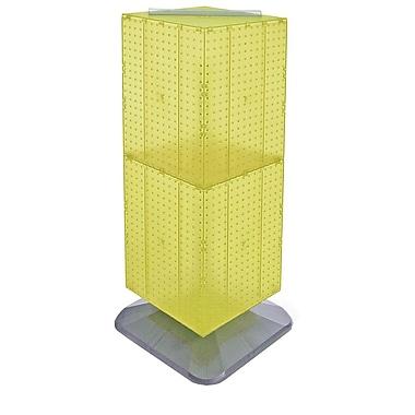 Azar Displays – Présentoir de plancher à panneaux perforés emboîtables lestés à 4 côtés, 40 x 14 x 14 po, jaune (701435-YEL)