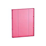 """Azar® 20""""(H) x 16""""(W) Pegboard 1-Sided Wall Panel, Translucent Pink, 2/Pack"""