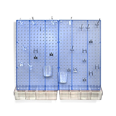 Azar Displays Pegboard Organizer Kit, Blue Frosted