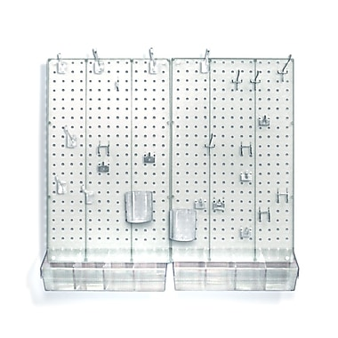 Azar Displays Pegboard Organizer Kit, Clear Frosted