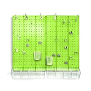 Azar Displays Pegboard Organizer Kit, Green Frosted