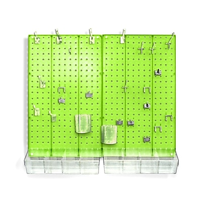 Azar® Pegboard Organizer Kit, Green Frosted