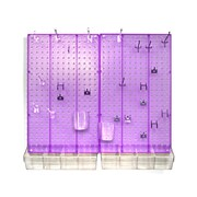 Azar Displays Pegboard Organizer Kit, Purple Frosted