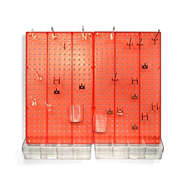 Azar Displays Pegboard Organizer Kit, Red Frosted (900945-RED)