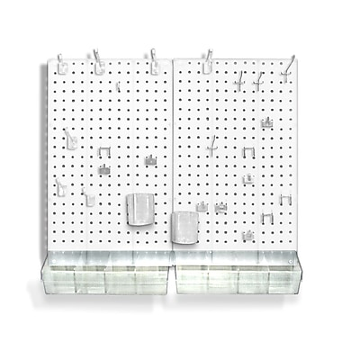 Azar Displays Pegboard Organizer Kit, White