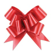 """Shamrock Bow Magic® Splendorette® Butterfly 4""""(dia) Pull Bow With 38"""" Band Ribbon, Red"""