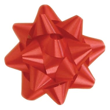 Shamrock 3 x 15 Loops Splendorette® Star Bows, Red
