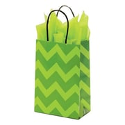 "Shamrock Paper 8.38""H x 5.5""W x 3.25""D Toucan Shopper Bags, Christmas Lace, 100/Carton"