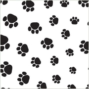 "Shamrock 20"" x 30"" Puppy Paws Printed Tissue Paper, Black on White"