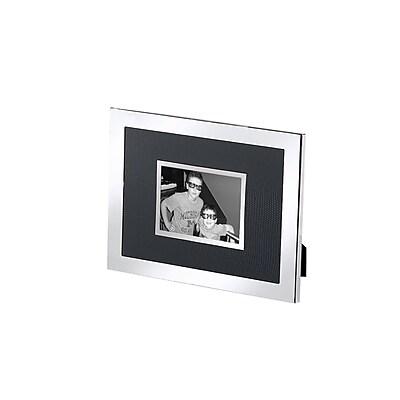 Natico Faux Lizard Frame, Black and Silver