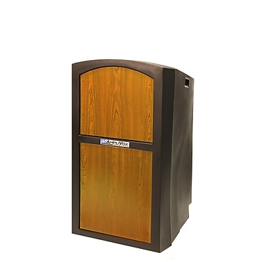 Amplivox Pinnacle Full Height Lectern - non sound, Medium Oak