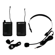 AmpliVox Sound Systems S1601 Wireless Lapel & Headset Microphone Kit, Black