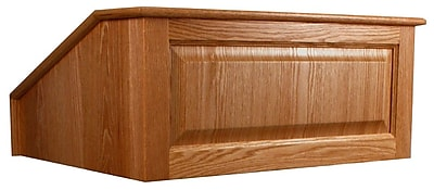 Amplivox Lectern, Non-Sound, Hardwood, Victoria, Table Top, Natural Cherry