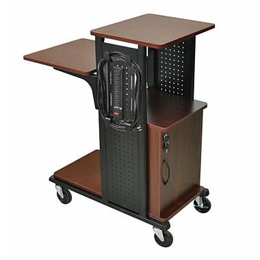 Amplivox Mobile Presentation Station , w Cabinet- Black Cherry
