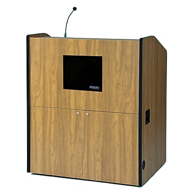 Amplivox Lectern, Wired-Sound, Wide-Multimedia, Mahogany