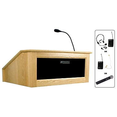 Amplivox Lectern, Wireless, Table Top, Victoria, Maple