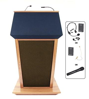 Amplivox Lectern, Wireless Sound, Hardwood, Patriot Plus, Maple