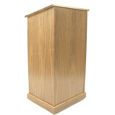 Amplivox Lectern, Non-Sound, veneer, Chancellor, Natural Oak