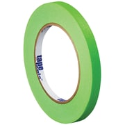 "Tape Logic™ 1/4"" x 60 yds. Masking Tape, Light Green, 12/Case"