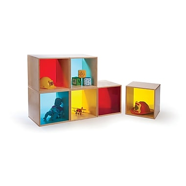 Whitney Brothers Cube Storage, Red Back