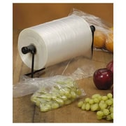 "Plastic 10""H x 15""W Produce Food Bags, Clear, 2/Pack"