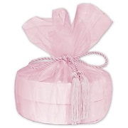 """28""""Dia. Solid Organza Wraps with Tassels, Pink, 10/Pack (103-05)"""