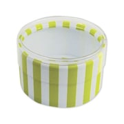 "Stripes Favor Polyethylene 2""Dia. x 1""D Gift Boxes, Green, 6/Pack"