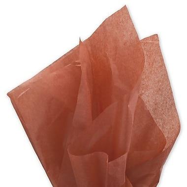 Bags & BowsMD – Papier de soie solide, 20 po x 30 po, cannelle, 480 feuilles/paquet