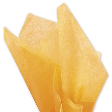 Bags & Bows Papier de soie solide, 20 po x 30 po, abricot, 480 feuilles/paquet