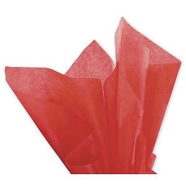 Papier de soie solide Bags & BowsMD, 20 x 30 po, rouge mandarin, 480 feuilles/paquet