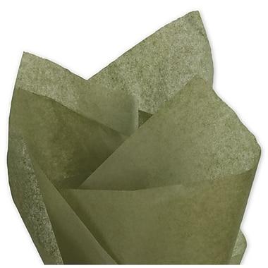 Bags & BowsMD – Papier de soie uni, 20 x 30 po, vert olive, 480 feuilles/paquet